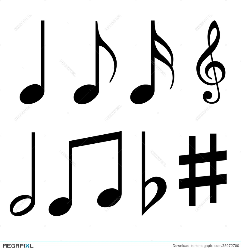 Music Notes Symbols Illustration 38972700 Megapixl