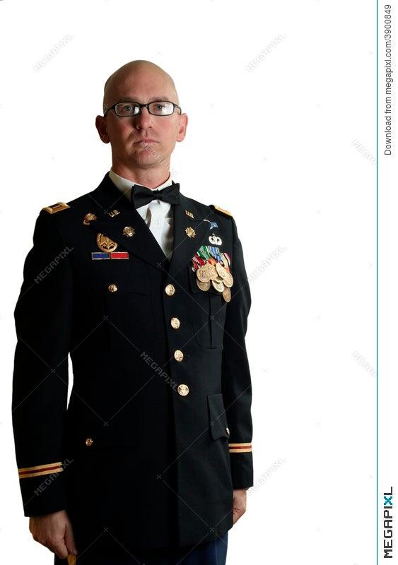 Us Army Officer Dress Uniform Stock Photo 3900849 Megapixl