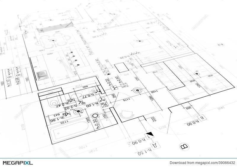Blueprint Background Stock Photo 39066432