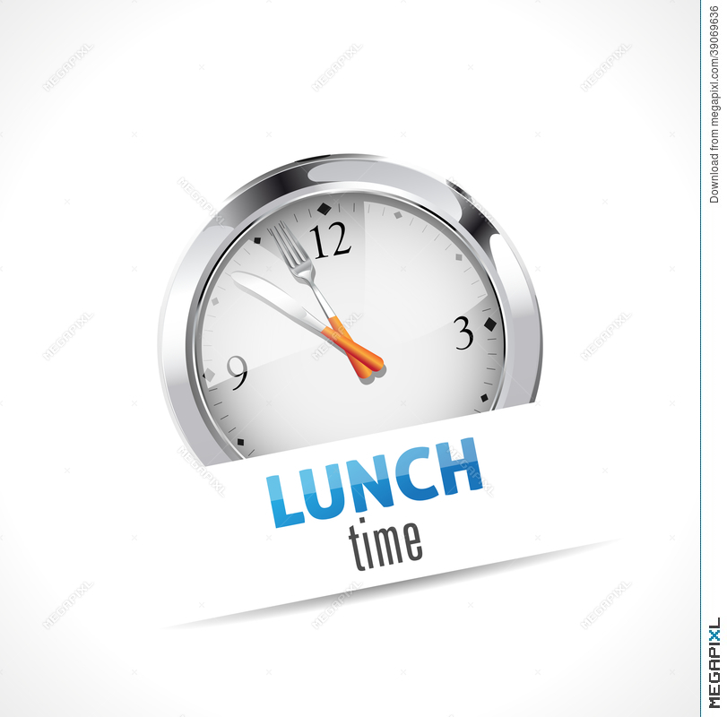 Lunch Time Sign Illustration 39069636