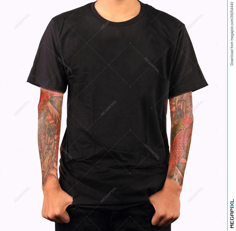 black t shirt template stock photo 39254440 megapixl