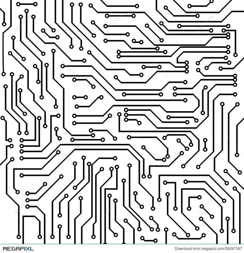 Circuit Board Vector Background Illustration 39297397 - Megapixl