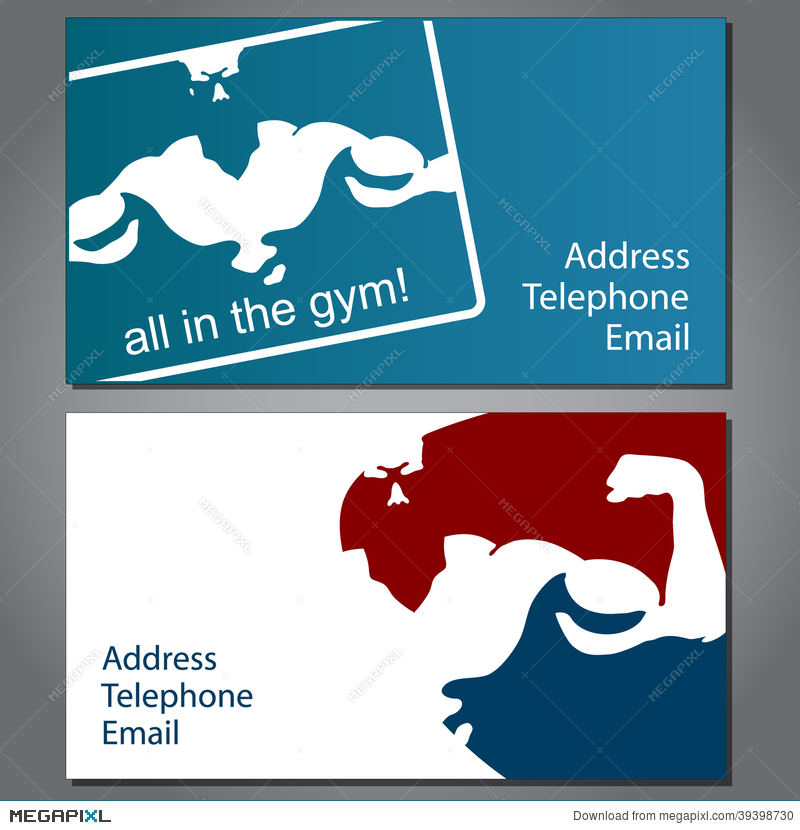 Business Card For Gym Illustration 39398730 - Megapixl