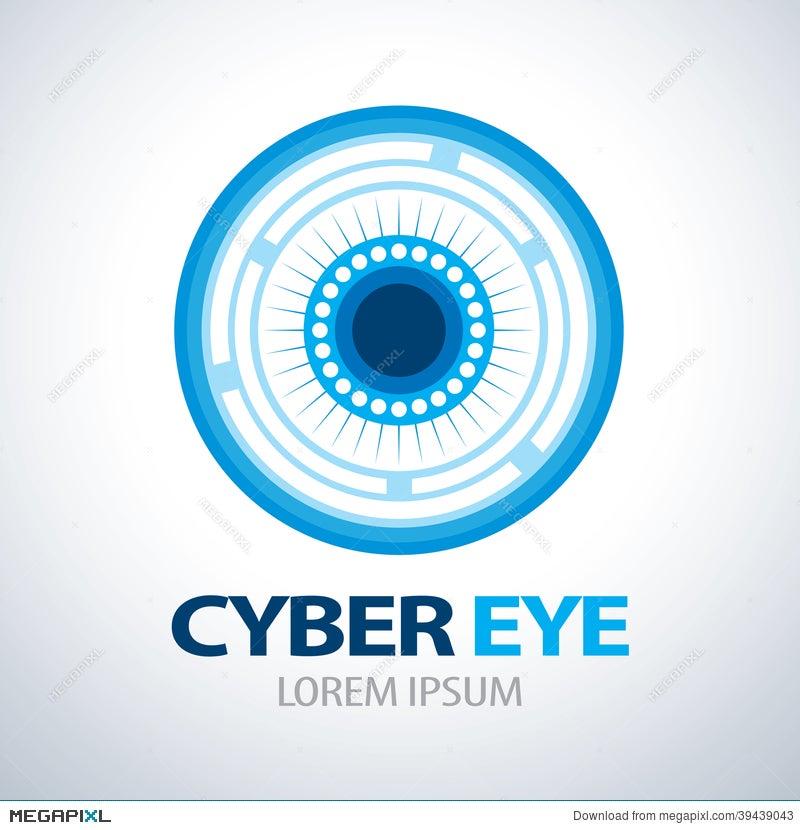 Cyber Eye Symbol Icon Illustration 39439043 Megapixl
