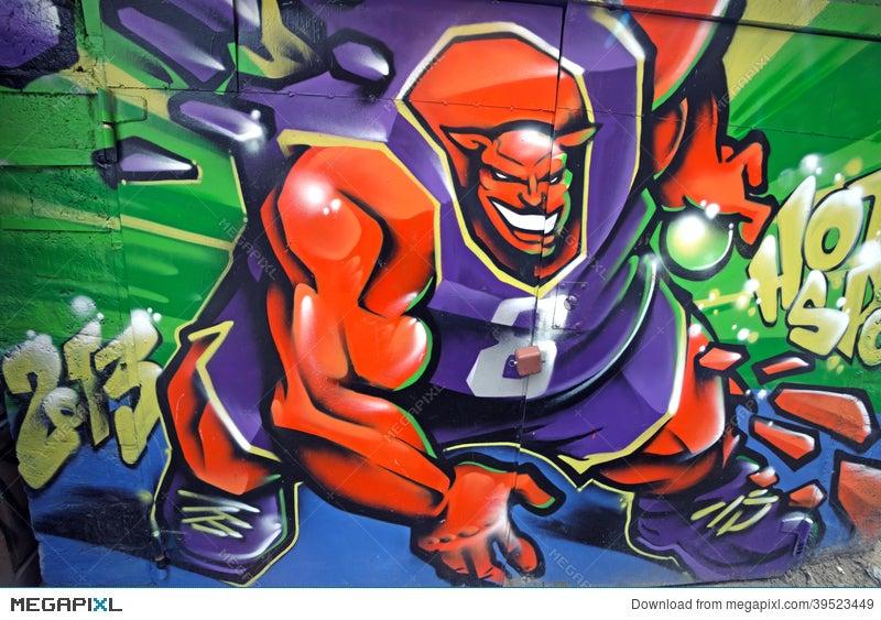 Basketball Monster Graffiti Stock Photo 39523449 Megapixl
