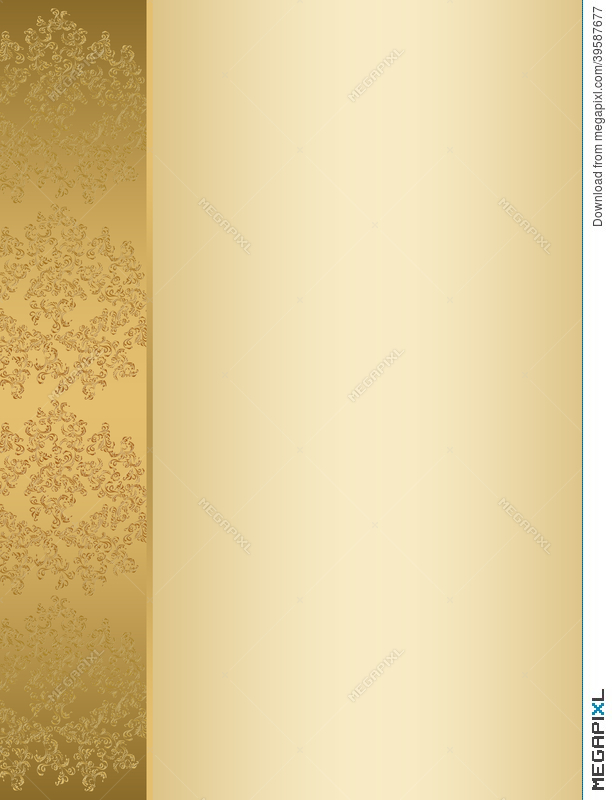 Golden Invitation Card Template Illustration 39587677 Megapixl