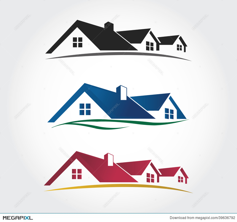 Home Design Icons Set , Roof Vector Set Illustration 39636792 - Megapixl