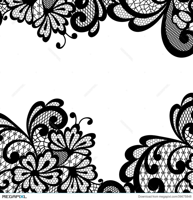 black vector lace corner illustration 39675848 megapixl rh megapixl com free vector art lace pattern wedding lace pattern vector free