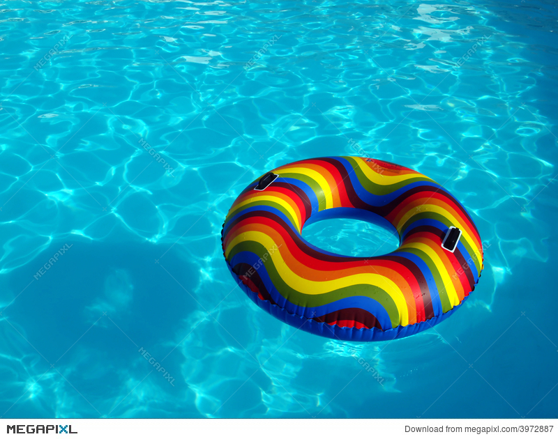 Swimming Pool With Rubber Ring Stock Photo 3972887 - Megapixl