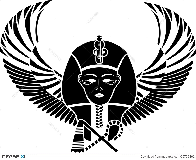 Egyptian Pharaon With Wings Illustration 39739462 Megapixl