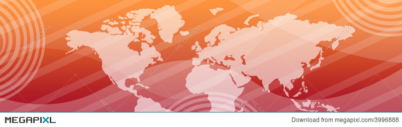 Web Header Banner World Map Illustration 3996888 Megapixl