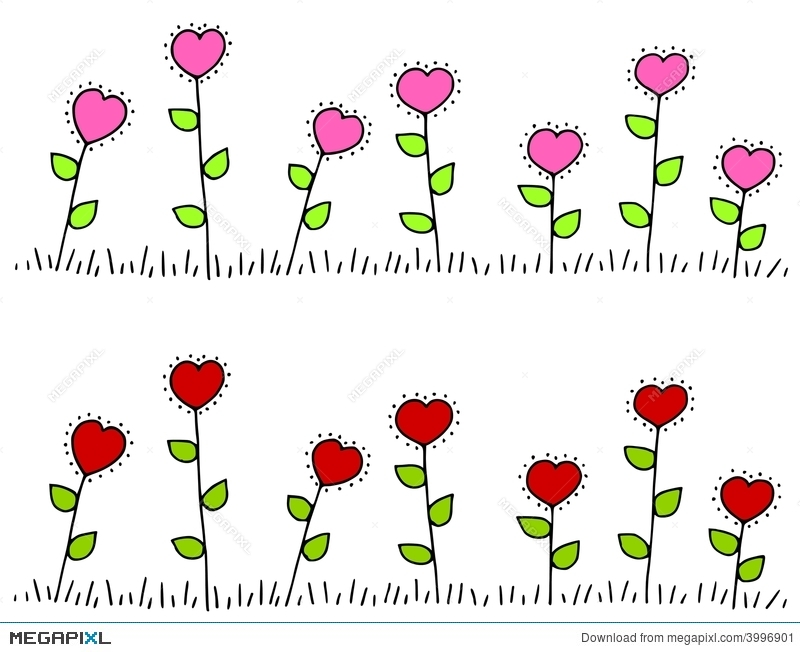 Pink red heart shaped flower borders illustration 3996901 megapixl pink red heart shaped flower borders mightylinksfo