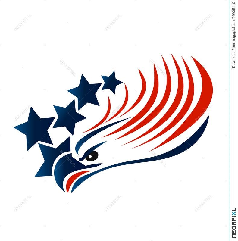 bald eagle american flag logo illustration 39935110 megapixl rh megapixl com american flag logo images american flag logo design