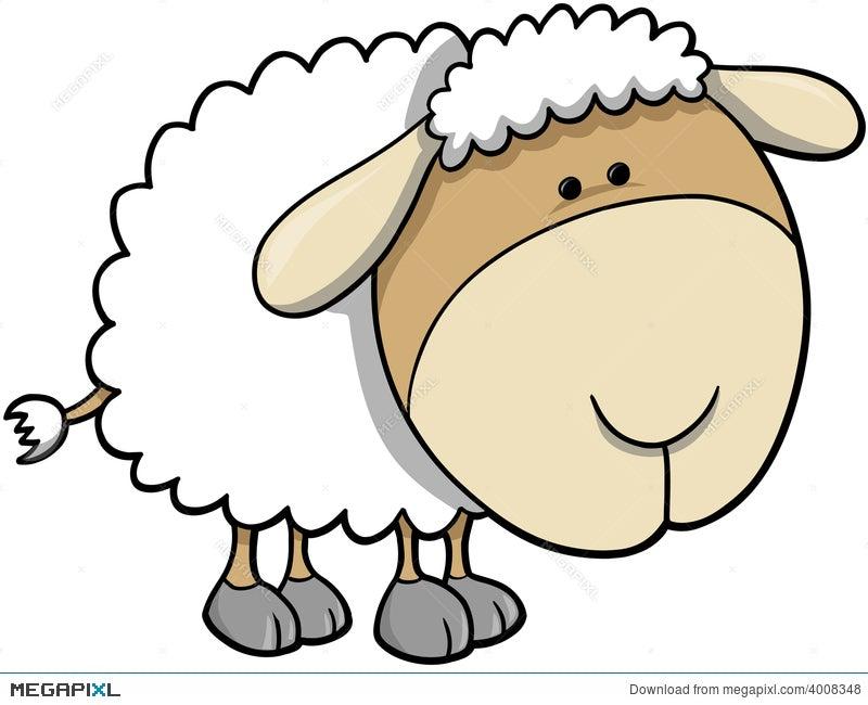 sheep vector illustration illustration 4008348 megapixl rh megapixl com sheep vector art sheep vector free download