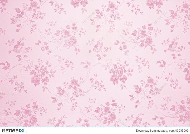 Floral Wallpaper Light Pink