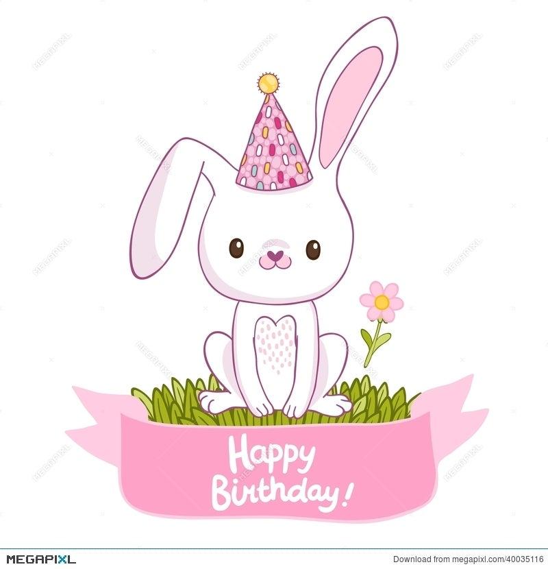 Happy Birthday Card With A Bunny