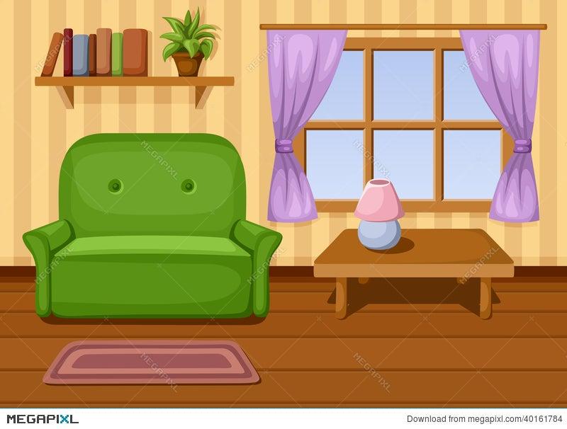 Living Room. Vector Illustration. Illustration 40161784 - Megapixl
