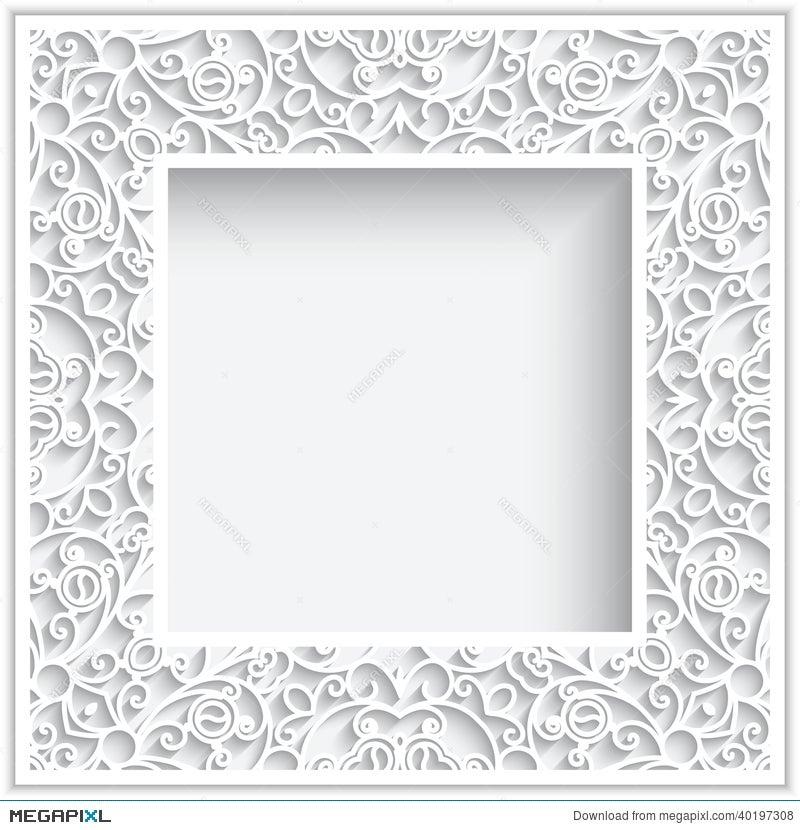 Square Paper Frame Illustration 40197308 - Megapixl