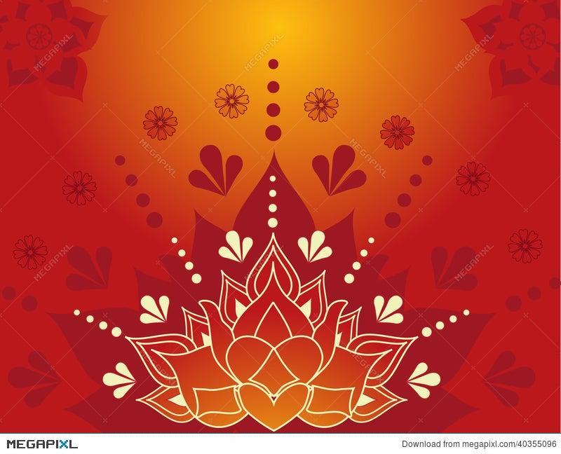 Henna Lotus Illustration 40355096 Megapixl