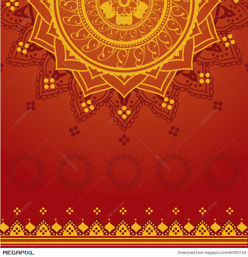 Yellow And Red Indian Background Illustration 40355104 - Megapixl