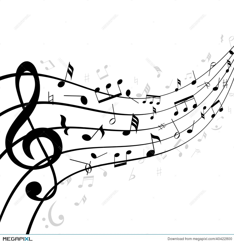 Music Notes On A Stave Or Staff Illustration 40422800