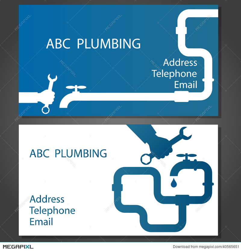 Business card for repair plumbing illustration 40565651 megapixl business card for repair plumbing reheart Images