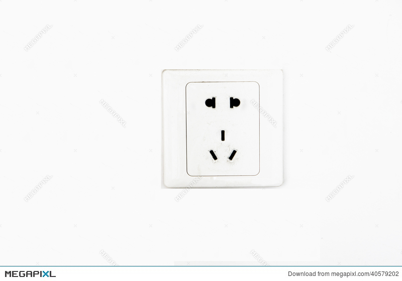 Electric Outlet Wall Socket Plug Receptacle Stock Photo 40579202 ...