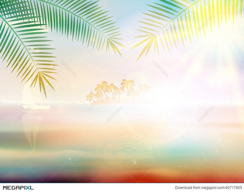 tropical beach design template illustration 40717905 megapixl