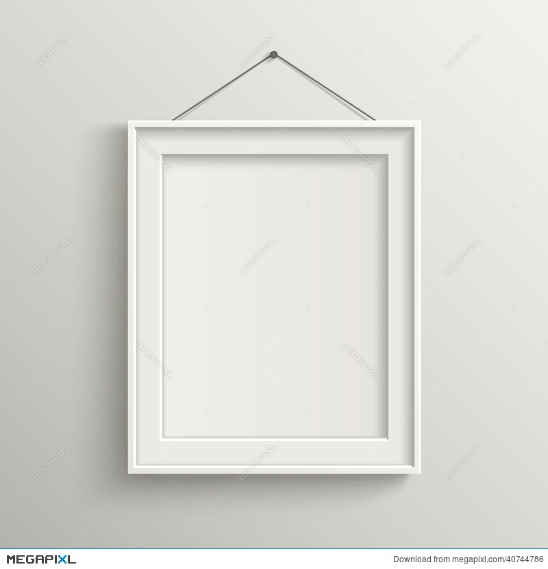 Blank Frame On White Wall With Shadow Illustration 40744786 - Megapixl