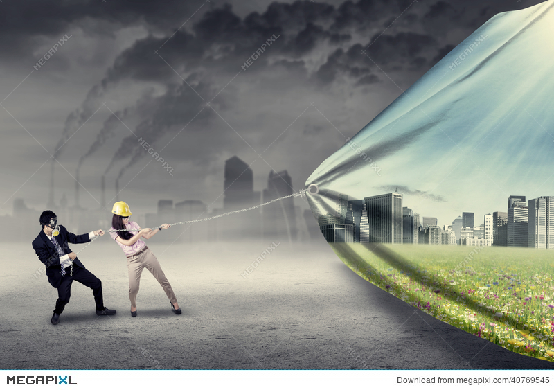Two Engineers Try To Save Environment Stock Photo 40769545 Megapixl