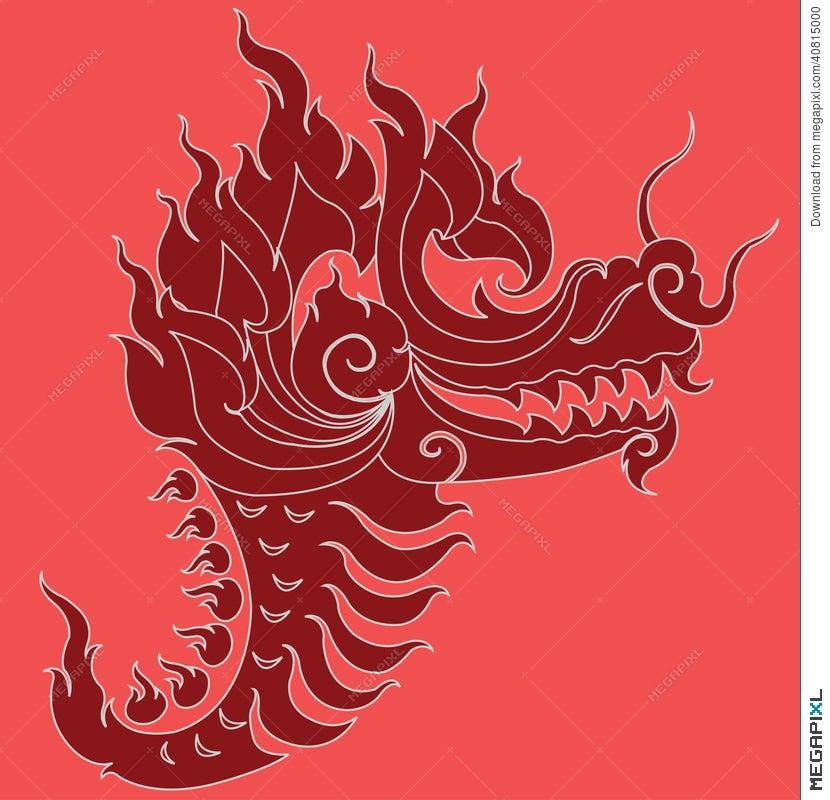 Dragon Head Tattoo Design Illustration 40815000 - Megapixl