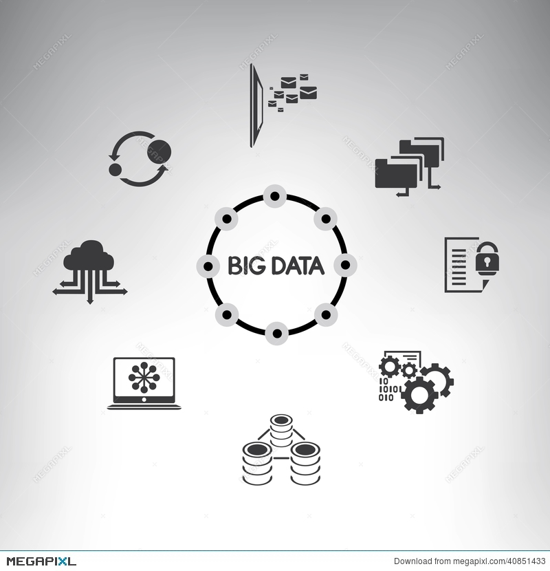 Big Data Diagram Web Analytics Infographic Stock Photo 40851433