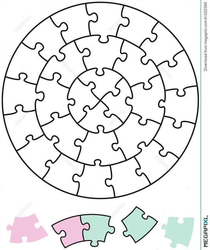 Jigsaw Puzzle Circles Illustration 41022366 - Megapixl