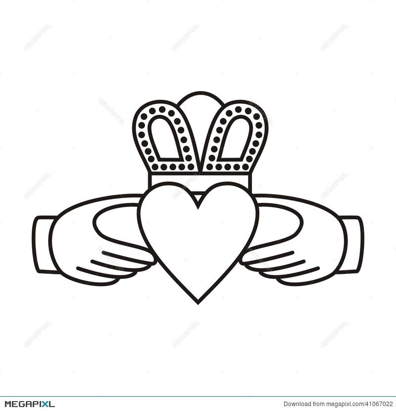 Claddagh Irish Love Symbol Illustration 41067022 Megapixl