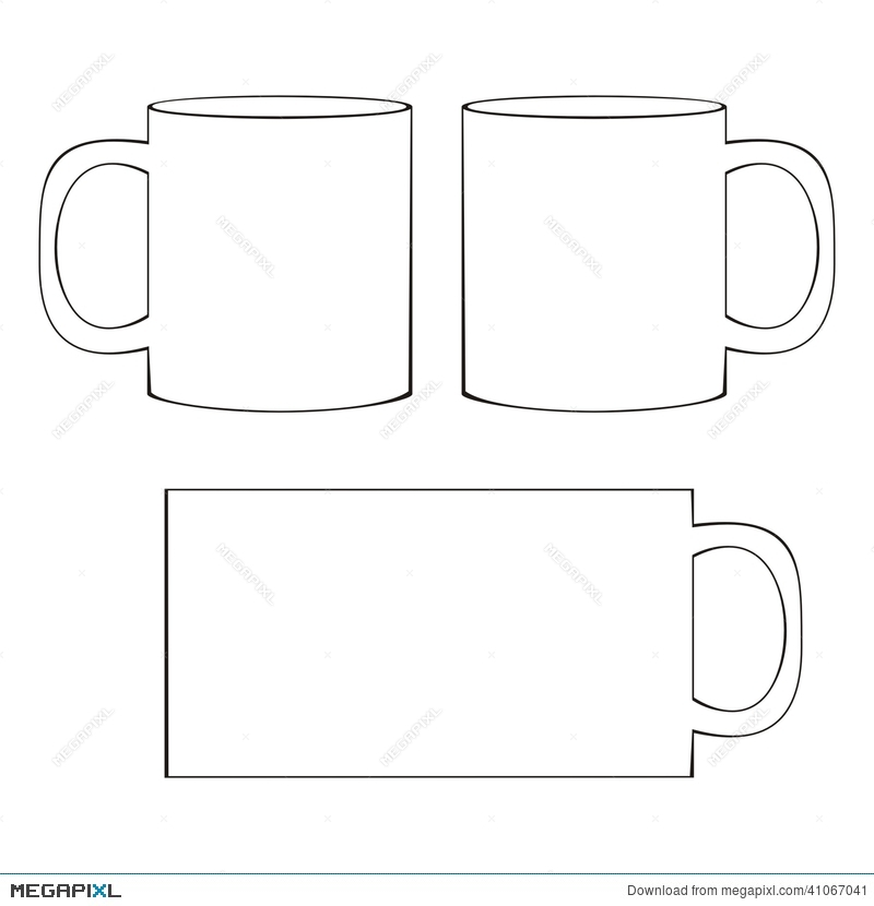 coffee mug template blank cup illustration 41067041 megapixl