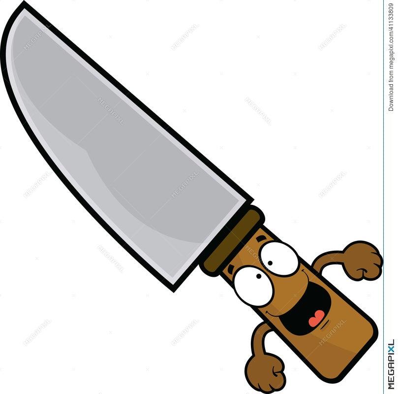 Happy Cartoon Knife Illustration 41133809 Megapixl