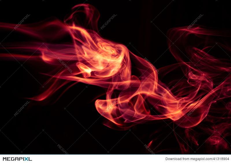 Fire Red Abstract Smoke Design On Black Background Stock Photo 41318904 Megapixl