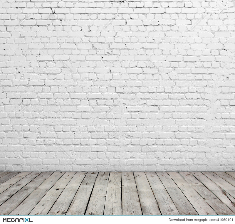 white brick wall and wood floor stock photo 41960101 megapixl