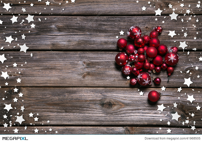 Rustic Christmas Background Decore