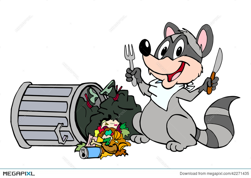 En Possum And Garbage Privileged Relatives Eat Out Of Cans