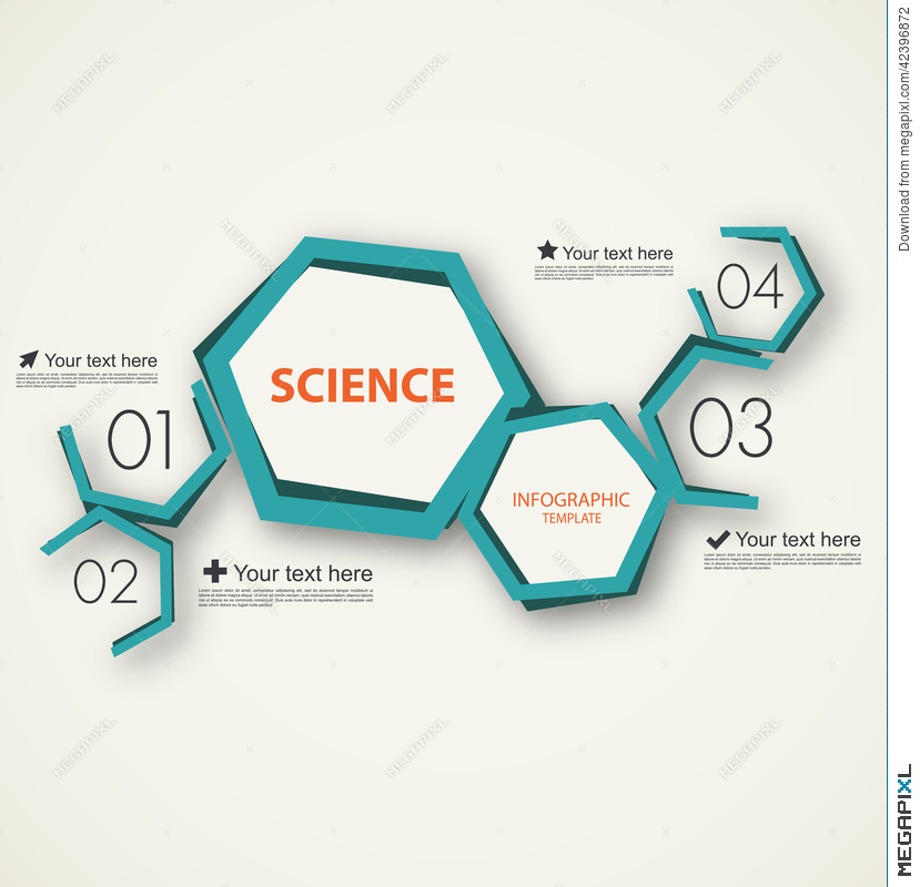 Science Infographic Template Illustration 42396872 - Megapixl
