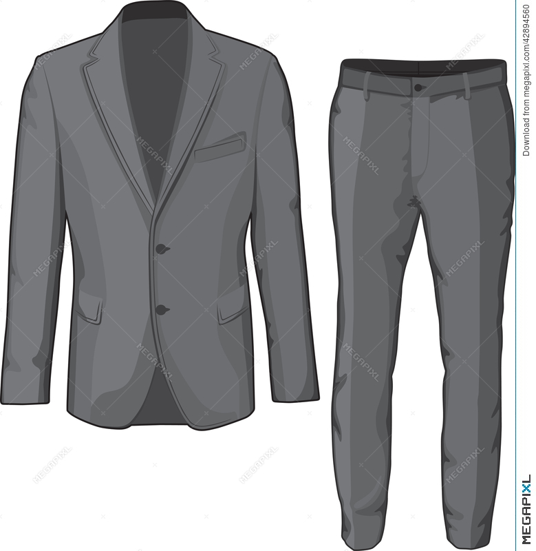 f4eecf8334 Male Clothing Suit Coat And Pants. Vector Illustration 42894560 ...