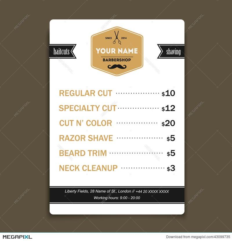 Hair salon barber shop services list design template illustration hair salon barber shop services list design template pronofoot35fo Images