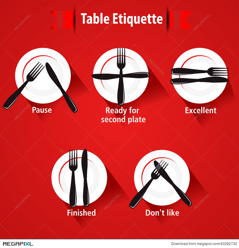 Dining Etiquette And Table Manner Forks Knifes Signals