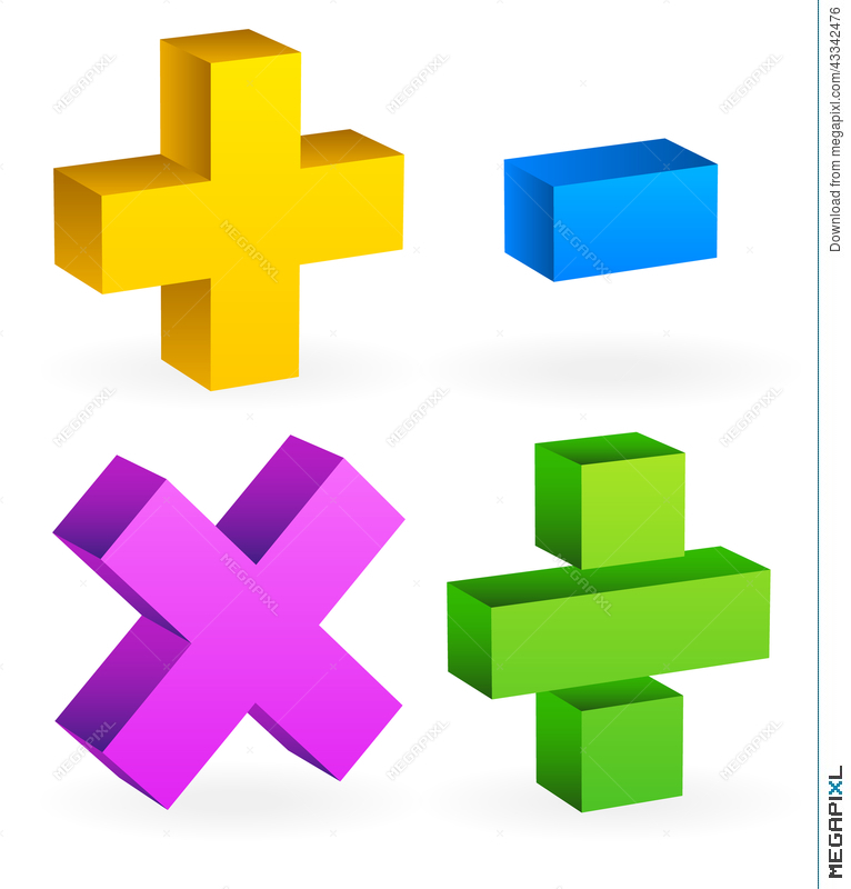 Math Mathematics Symbols Illustration 43342476 Megapixl
