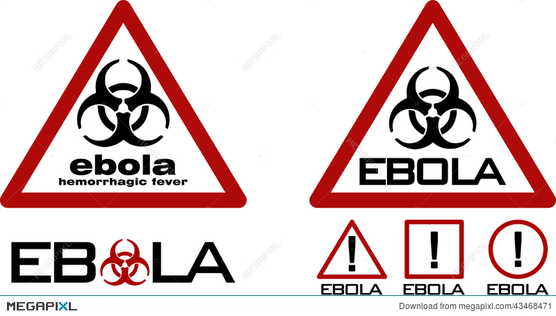 Warning Sign With Biohazard Symbol And Ebola Text Stock Photo