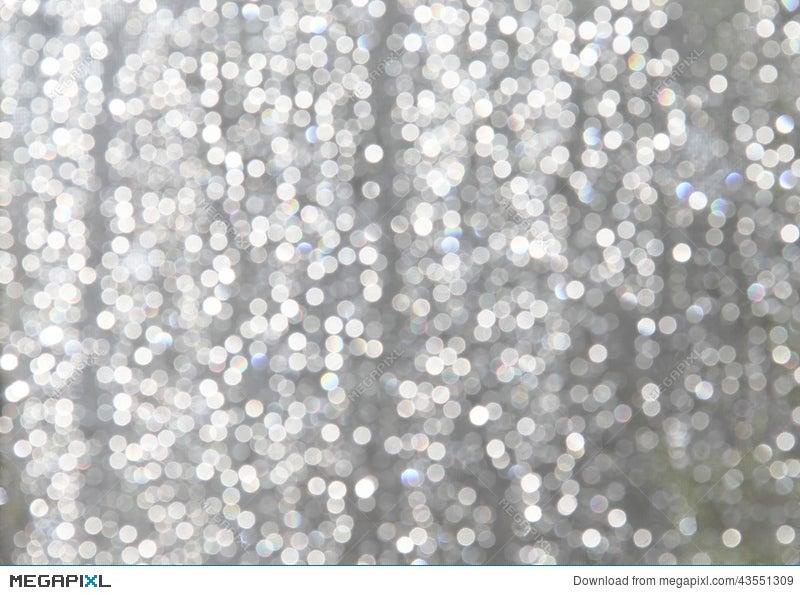 White Sparkles With Lite Blue Gray Background Stock Photo 43551309