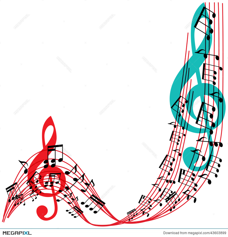 music notes background stylish musical theme frame - Music Picture Frame