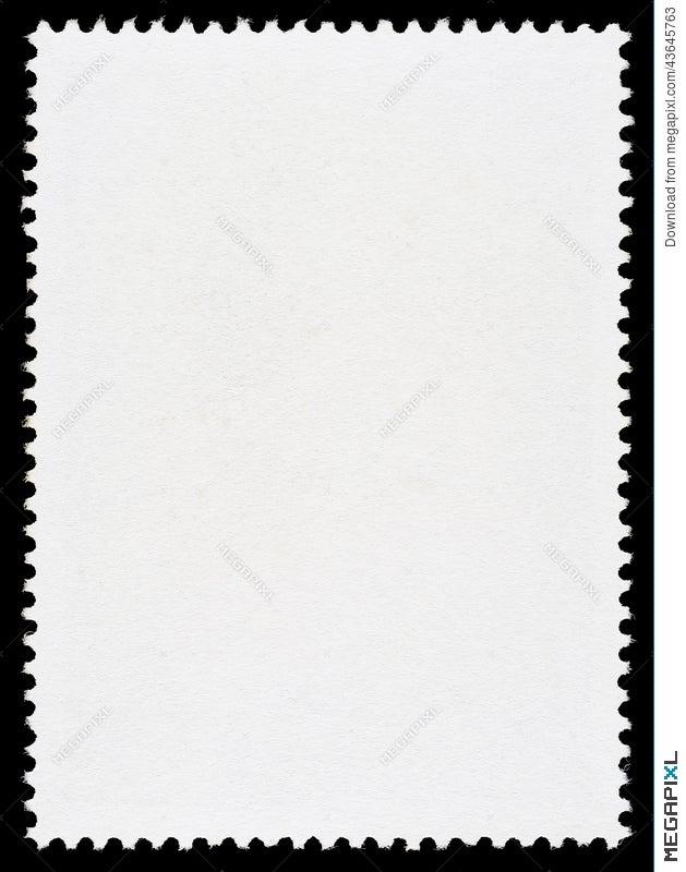 Blank Postage Stamp Template Stock Photo 43645763 - Megapixl