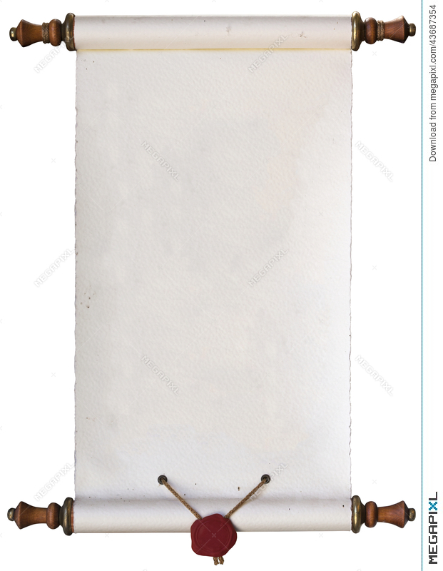 Old Paper Scroll Stock Photo 43687354 - Megapixl